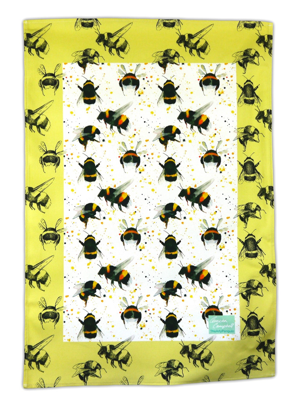 bee gift tea towel Christmas birthday