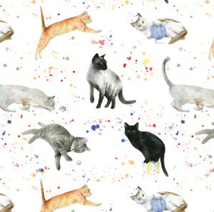 Cats cat kitten gift wrapping by Ceinwen Campbell of the Arty penguin