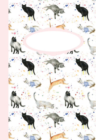 Cats kittens jotter by ceinwen Campbell and The Arty Penguin