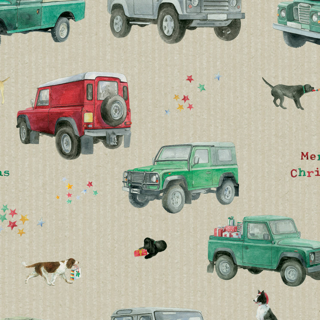 Land Rover Defender inspired Christmas Wrapping Paper