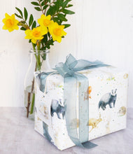 country animal gift wrapping paper