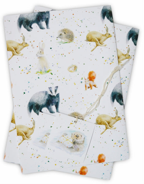 Country Animals Gift Wrapping Paper