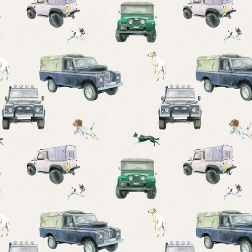 Off roader 4 x 4 Defender gift wrapping paper by Ceinwen Campbell and The Arty Penguin