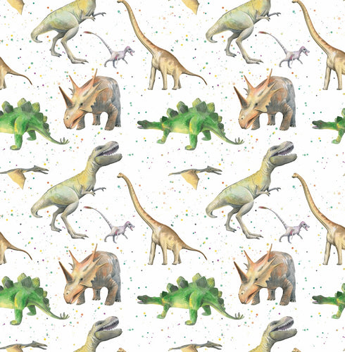 Dinosaur Wrapping Paper and tags