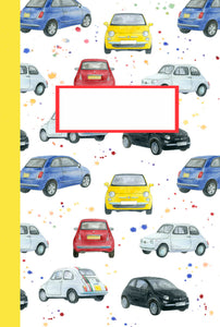 Fiat 500 jotter gift Christmas stocking filler