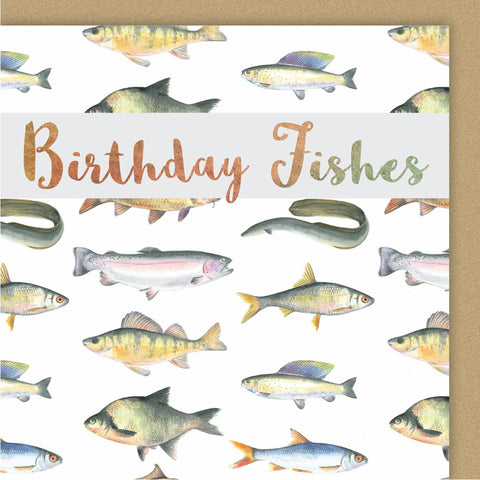 "Fish ""Birthday Fishes"" Card"