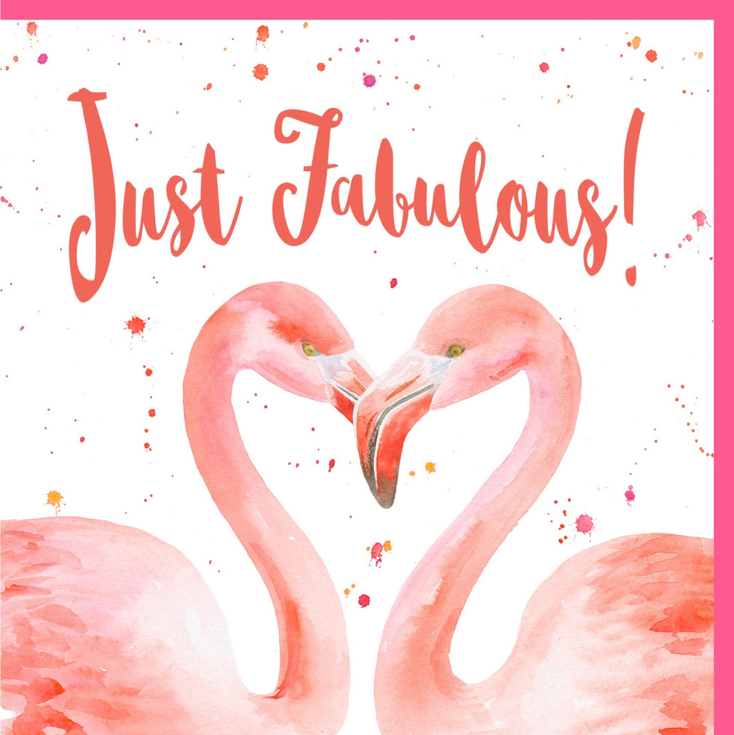 Flamingo birthday congratulations celebration blank greetings card