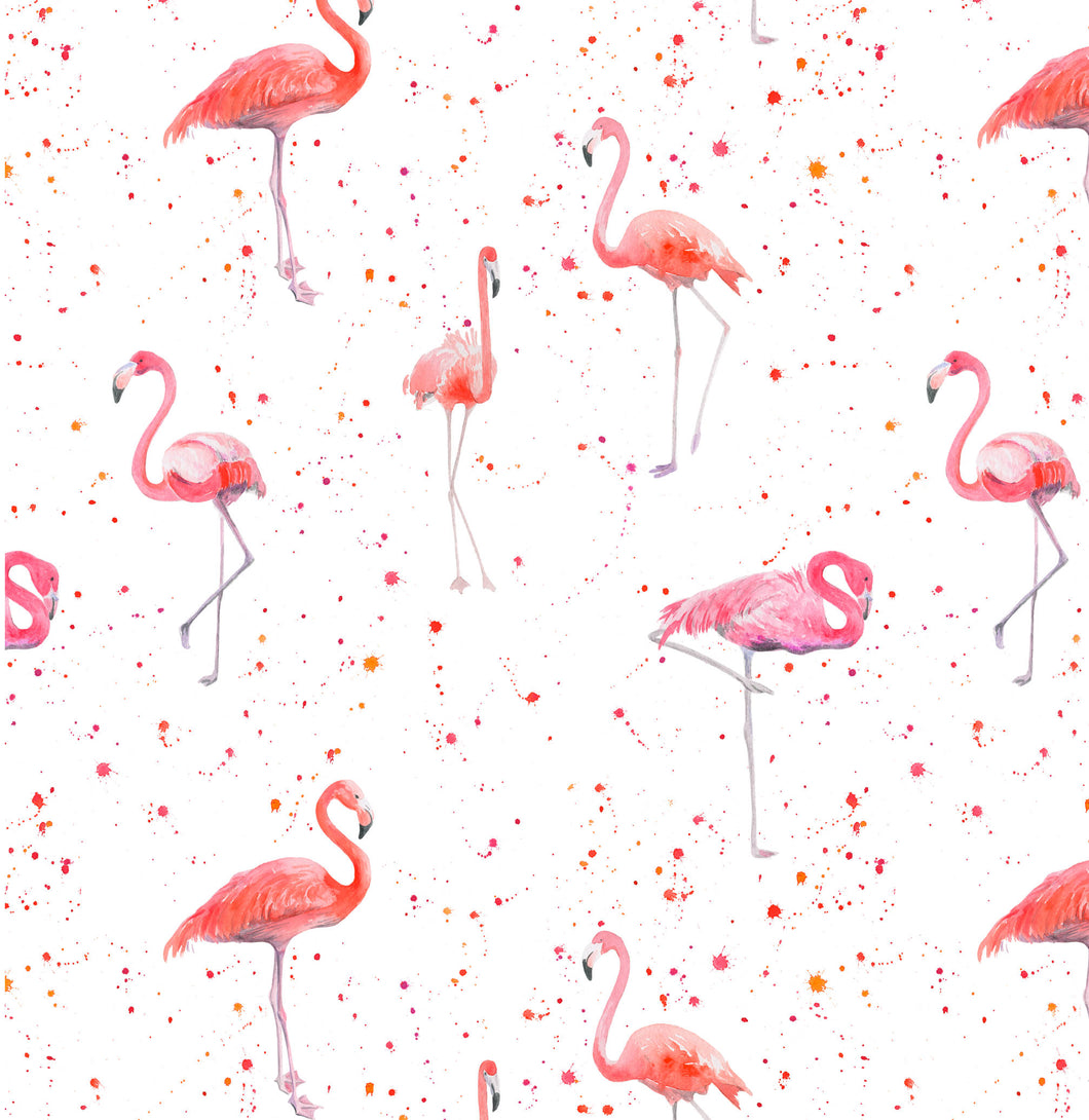 flamingo flamingos pink bird gift wrap wrapping