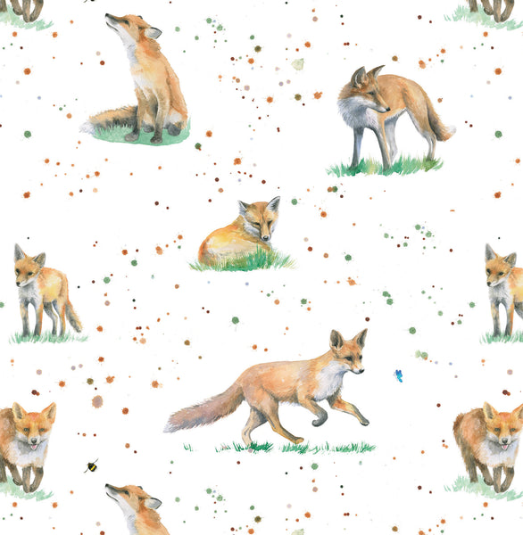 fox foxes wrapping paper gift present