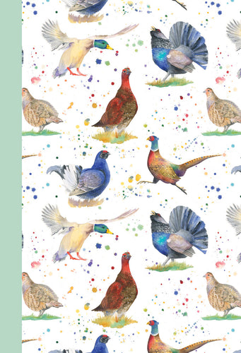 Pheasant duck capercaillie partridge jotter note book Ceinwen Campbell The Arty Penguin