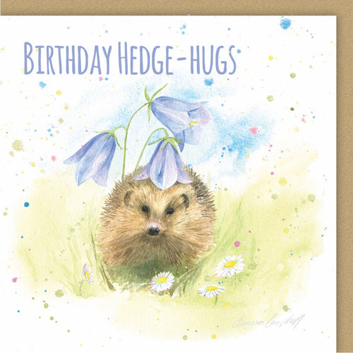 hedgehog birthday card Ceinwen Campbell