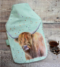 highland cow hot water bottle Christmas present Ceinwen Campbell The Arty Penguin
