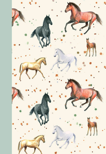 Horses horse foal jotter notepad Ceinwen Campbell The Arty Penguin