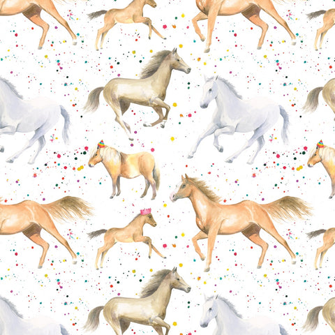 horse party gift wrapping suitable for birthdays and Christmas presents