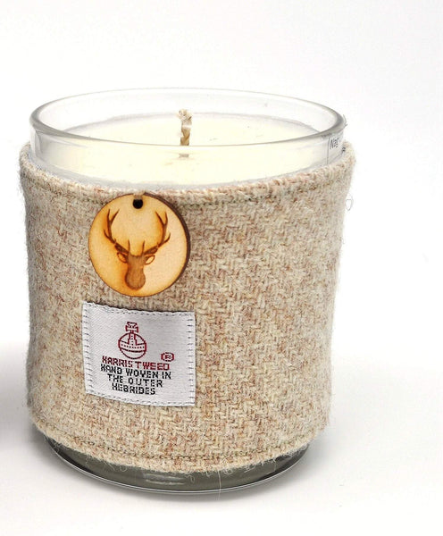 Nag Champa Soy Candle with Harris Tweed Sleeve