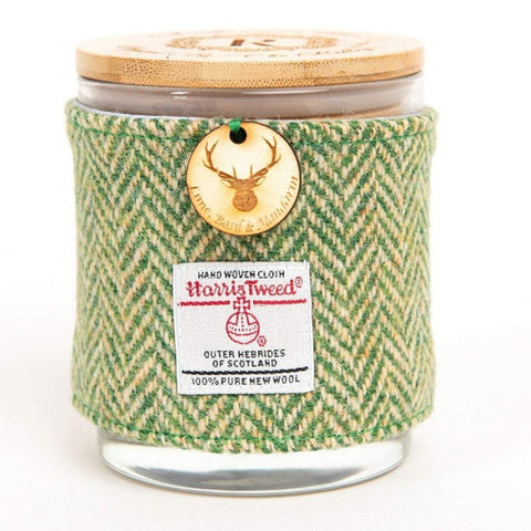 Lime Basil and Mandarin Candle with Harris Tweed Sleeve