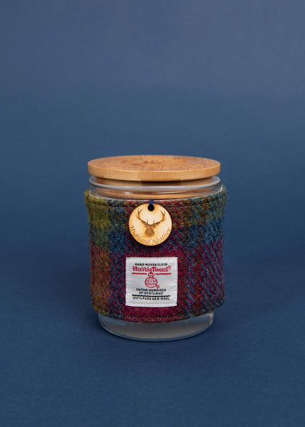 Heather Soy Candle with Harris Tweed Sleeve