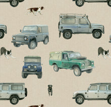 Classic 4 x 4 defender off roader gift wrap by Ceinwen Campbell and The Arty Penguin