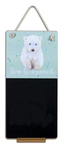 Hamish Polar Scottish Polar Bear Cub gift chalkboard by Ceinwen Campbell and The Arty Penguin