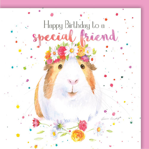 Guinea Pig Special Friend Birthday Card