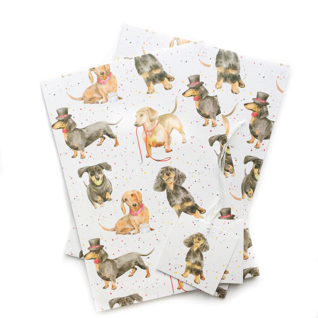 Dachshund Party Gift Wrapping Paper