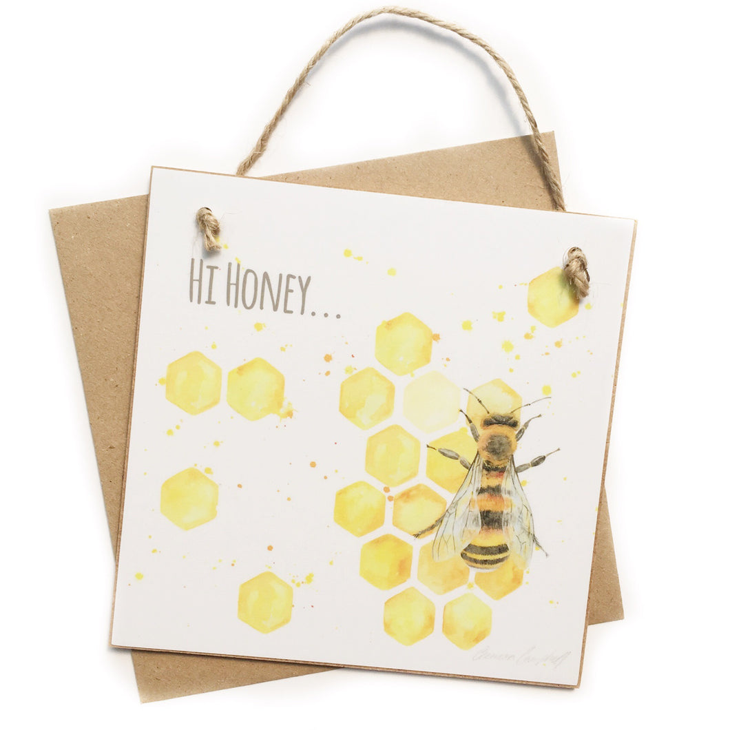 "Bee ""Hi, honey"" Keepsake 'Card'"