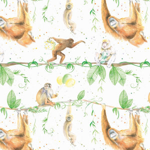 Monkey and Ape Wrapping Paper