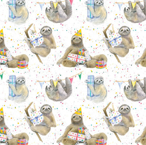 sloth sloths gift wrapping paper by Ceinwen Campbell and The Arty Penguin
