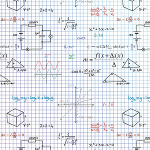 Maths , physics, science gift wrapping paper