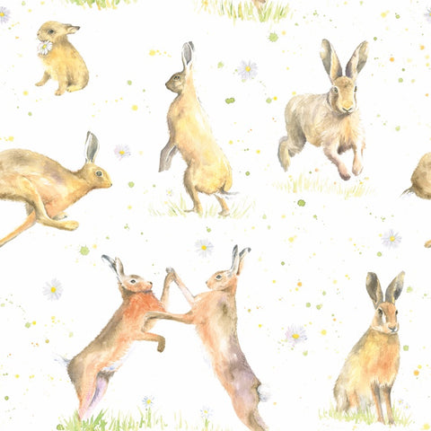 Country Hare Gift Wrapping Paper
