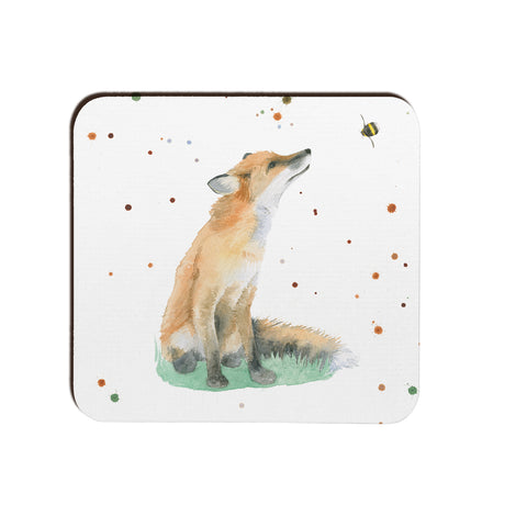 fox foxes coaster kitchen dining gift present