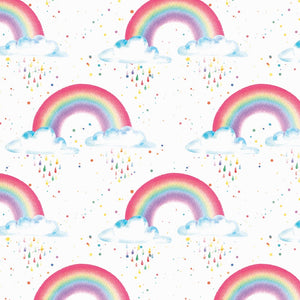 Rainbow colourful gift wrapping wrap paper Ceinwen Arty penguin