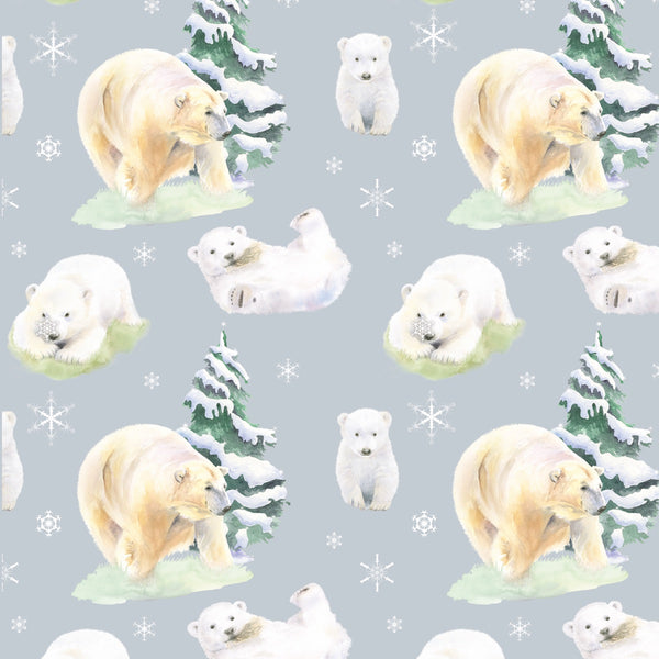 Polar bear Hamish Christmas  scottish gift wrapping paper by Ceinwen Campbell and The Arty Penguin