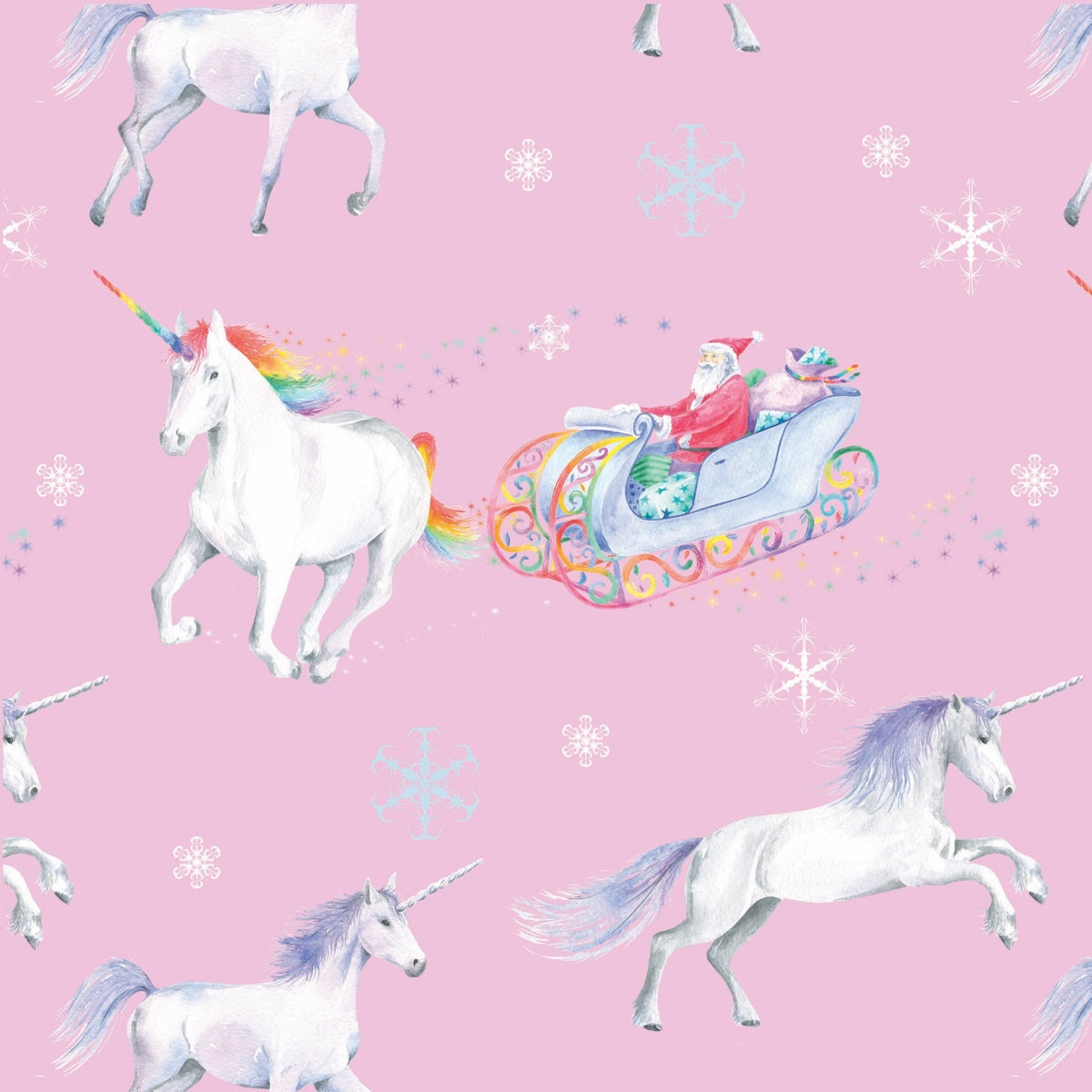 unicorn unicorns Christmas gift wrapping paper Ceinwen Campbell and The Arty Penguin