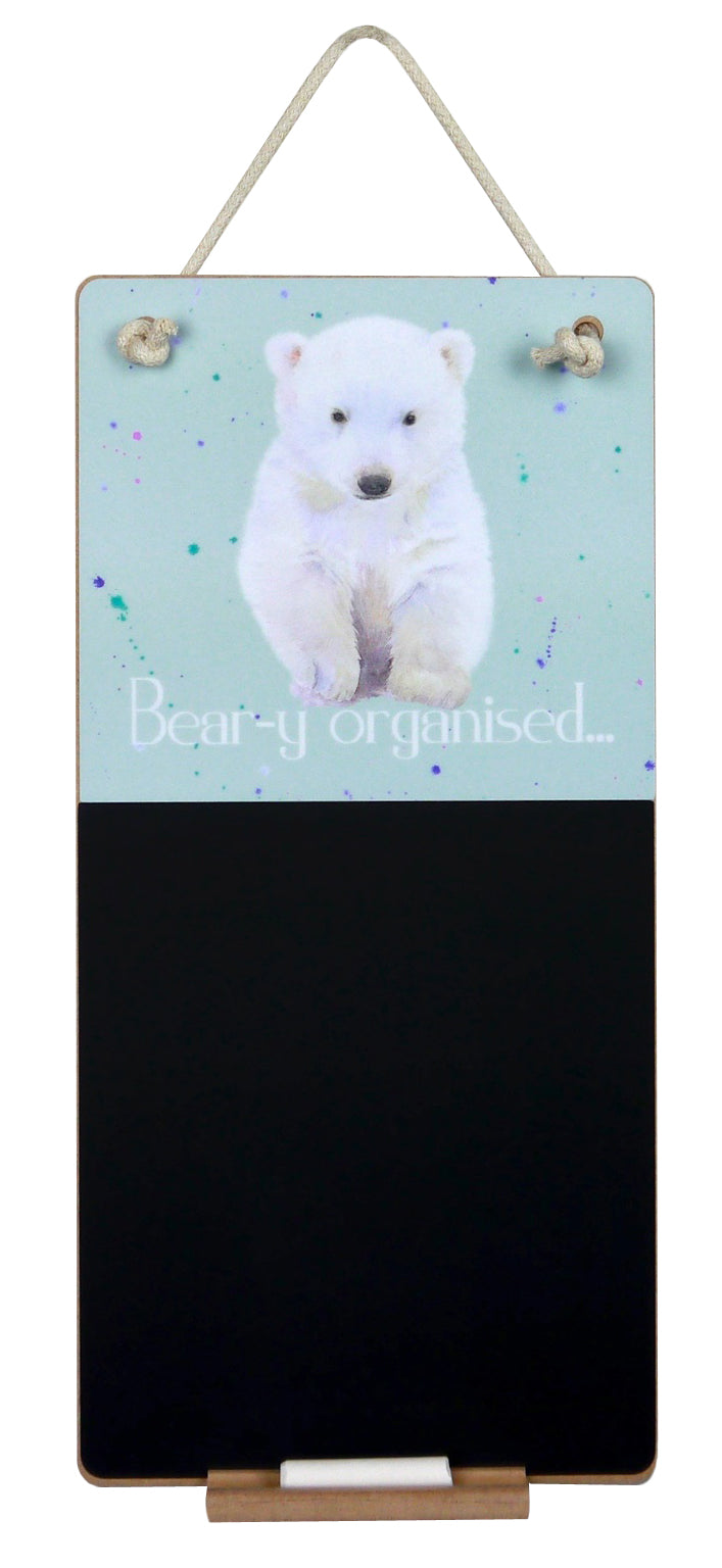 Hamish Scottish polar cub gift chalkboard by Ceinwen Campbell and The arty Penguin