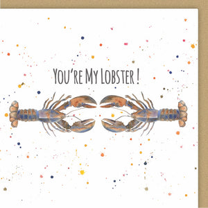 Lobster anniversary Valentine day Ceinwen Campbell The Arty Penguin
