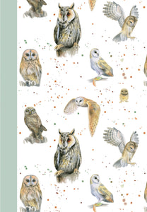 British owls jotter by Ceinwen Campbell and The Arty Penguin