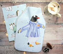 Penguin in pyjamas hot water bottle Christmas birthday present