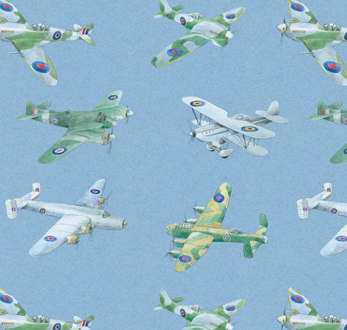 Plane aeroplane airplane gift wrapping paper by Ceinwen Campbell and The Arty Penguin