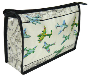 Plane ww2 bombers toiletry bag by Ceinwen Campbell and The Arty Penguin