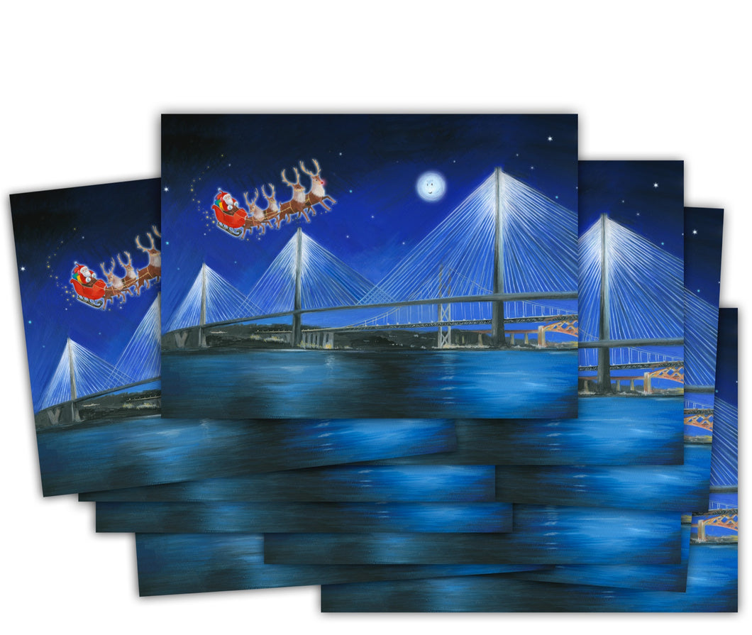 Queensferry Crossing Christmas cards multi pack Ceinwen Campbell