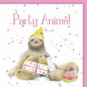 sloth birthday card Ceinwen Campbell