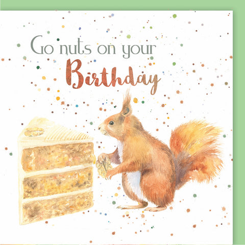 Squirrel Go Nuts on your Birthday Birthday Card