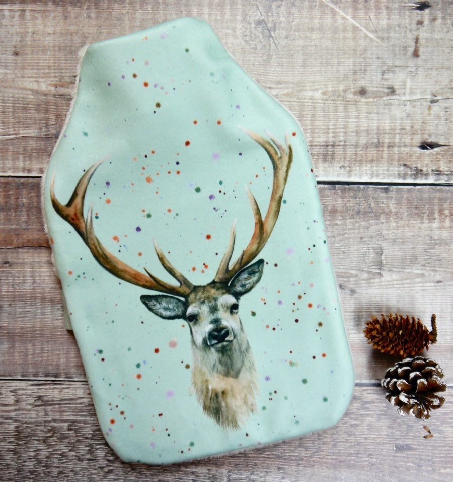 stag deer hot water bottle Christmas present
