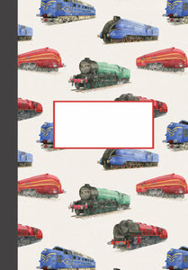 Steam Train jotter by  Ceinwen Campell and the Arty Penguin