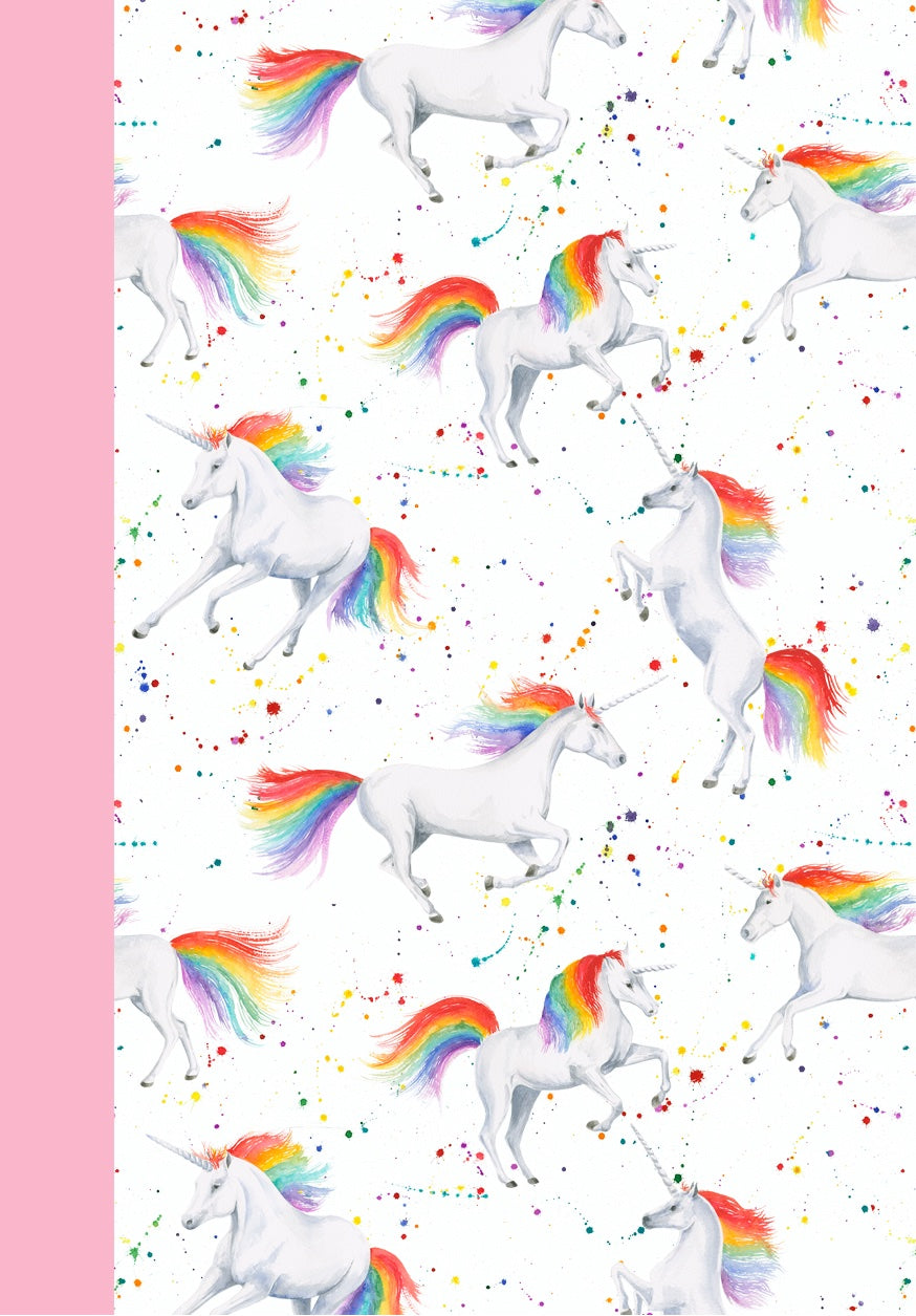 Unicorn jotter notepad present  by Ceinwen Campbell and The Arty Penguin