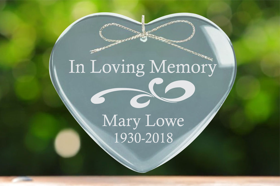 Sympathy gift, Memorial ornament, Remembrance gift, Condolence gift, In Loving Memory of Gift, Lost loved one, Glass Ornament