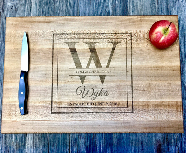 18x12x1.5 JOHN BOOS Maple Wood Cutting Board Personalized/Custom Engraved