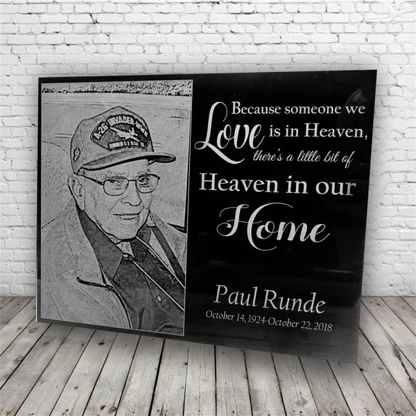Personalized Funeral/Memorial Marble Plaque