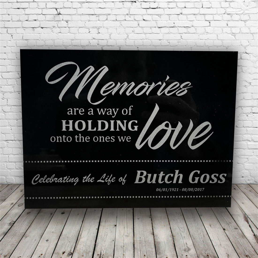 Marble Plaque with Saying Personalized with Name and Date *Funeral Personalized Laser Engraved Memorial Gift Plaque*